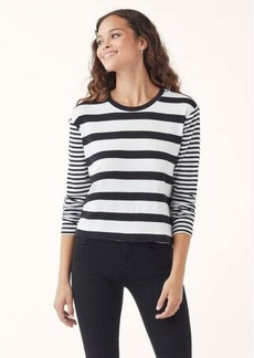 Splendid Cody Crop Stripe Long Sleeve Tee