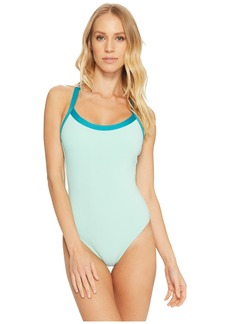 Splendid Color Block One-Piece