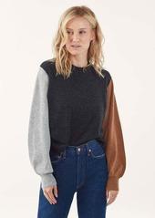 Splendid Colorblock Cashmere Sweater