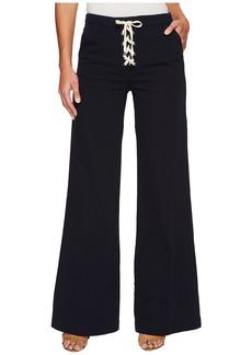 Splendid Cotton Twill Lace-Up Pants