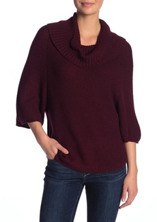 Splendid Cowl Neck 3/4 Length Sleeve Sweater