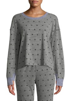 Splendid Crewneck Paint-Dot Pullover Sweatshirt