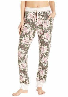 Splendid Crop Fuzzy Knit PJ Pants