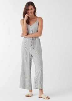 Splendid Crosshatch Stripe Tie Waist Jumpsuit