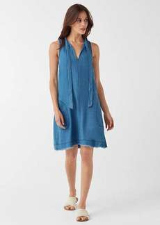 Splendid Crosshatch V-Neck Tie Dress