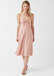Splendid Dahlia Linen Slub Midi Dress