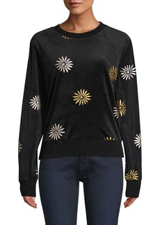 Splendid Daisy Velvet Crewneck Sweater