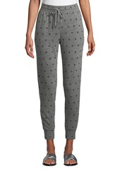 Splendid Dot-Print Drawstring Jogger Sweatpants