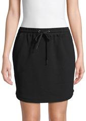 Splendid Drawstring Cotton Mini Skirt