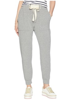 Splendid Dream Slub Lace-Up Jogger in Heather Grey