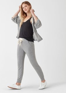 Splendid Dream Slub Lace Up Jogger in Heather Grey