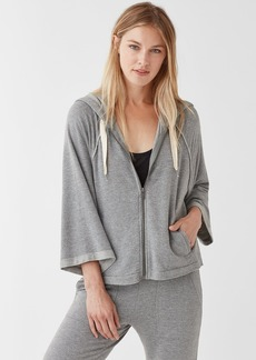 Splendid Dream Slub Zip Up Hoodie in Heather Grey