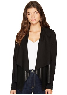 Splendid Faux Leather Drape Jacket