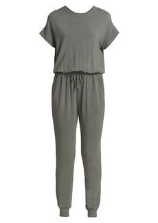 Splendid Flora Short-Sleeve Blouson Jumpsuit