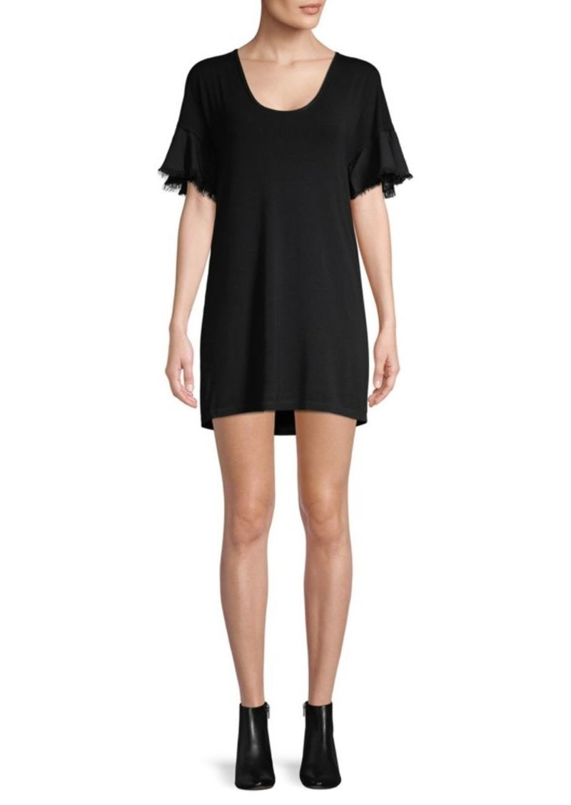 Splendid Flutter-Sleeve Mini Dress