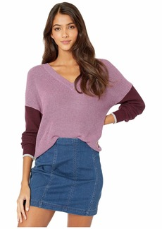 Splendid Gemma Color Block Pullover Sweater
