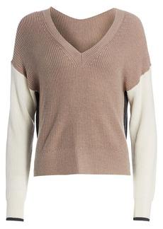 Splendid Gemma Colorblock Rib-Knit Sweater