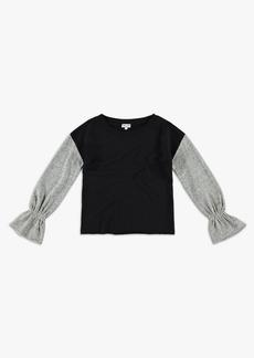 Splendid Girl Bell Sleeve Sweatshirt Top
