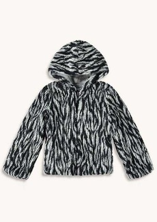 Splendid Girl Braided Fur Jacket