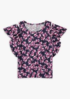 Splendid Girl Floral Cold Shoulder Top