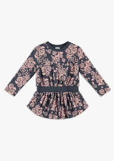 Splendid Girl Floral Sweatshirt Dress