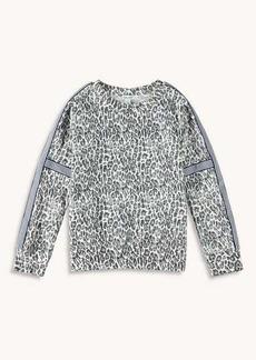 Splendid Girl Leopard Print Pullover