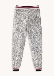 Splendid Girl Leopard Sweater Knit Jogger