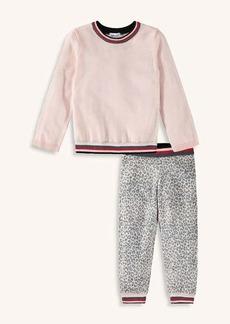 Splendid Girl Leopard Sweater Knit Top Set