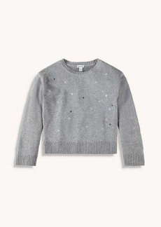 Splendid Girl Lurex Embroidered Sweater