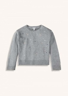 Splendid Girl Lurex Embroidered Sweater