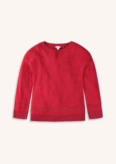 Splendid Girl Lurex Sweater Knit Top