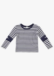 Splendid Girl Stripe Cutout Tunic