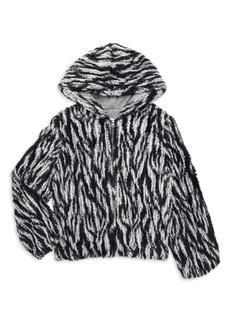 Splendid Girl's Braided Faux Fur Jacket