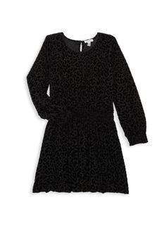 Splendid Girl's Burnout Velvet Dress