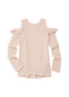 Splendid Girl's Cold Shoulder Sweater
