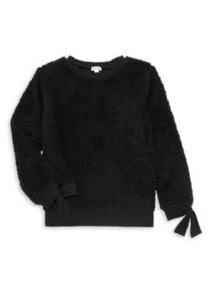 Splendid Girl's Faux Fur Sweatshirt