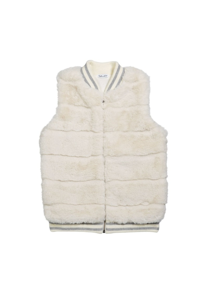 Splendid Girl's Faux Fur Vest  Size 7-14