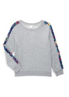Splendid Girl's Floral Stripe Sweatshirt