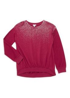 Splendid Girl's Glitter Spray Sweatshirt