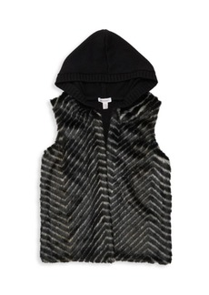 Splendid Girl's Knitted Faux Fur Vest