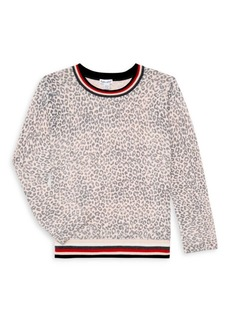 Splendid Girl's Leopard-Print Sweater