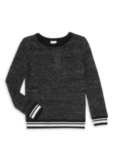 Splendid Girl's Lurex Knit Pullover