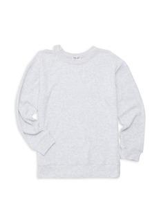 Splendid Girl's Melange Sylvie Rib-Knit Sweatshirt