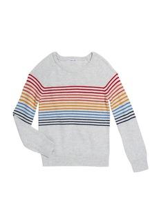 Splendid Girl's Rainbow Stripe Knit Top  Size 7-14
