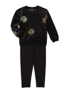 Girl's Splendid x Margherita Missoni Daisy Foil Print Sweater & Track Pants Set