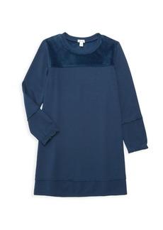Splendid Girl's Super Soft Velour-Patch Shift Dress