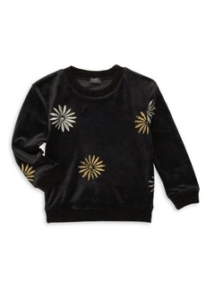 Girl'sSplendid x Margherita Missoni Foiled Daisy-Print Velvet Sweater