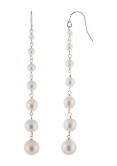 Splendid Graduated 3-9mm Cultured Freshwater Pearl Linear Drop Earrings