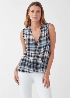Splendid Greyfox Plaid Surplice Tank
