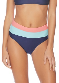 Splendid In The Groove Colorblock High Waist Bikini Bottoms
